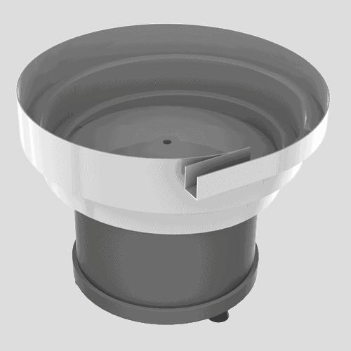 Circular vibrator + stepped bowl